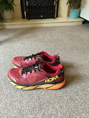 Unisex Hoka One One Challenger Ata 3 Red Detail Trainers Size 9.5  Uk