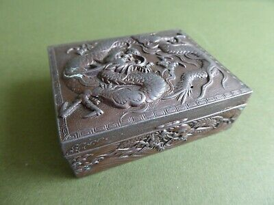 SUPERB Orig ANTIQUE JAPANESE Meiji Period METAL Dragon JEWELLERY BOX...c1890