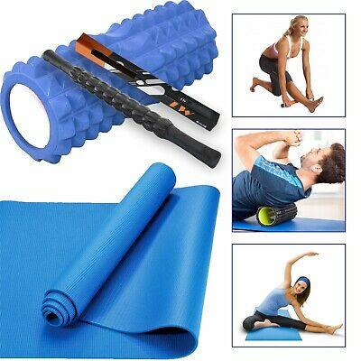 Grid Foam Roller Pain Massager / Yoga Pilates Muscle Physio Gym Fitness Exercise
