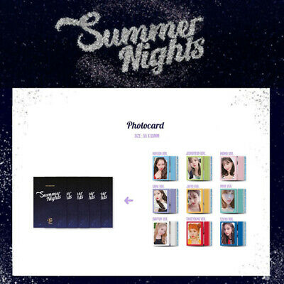 Twice - 2Nd Special Album Summer Nights Photo Card Tzuyu Sana Momo Dahyun Jihyo