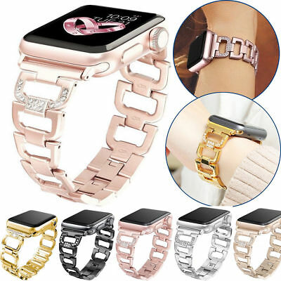 For Apple Watch 40/44mm Series 2 3 4 5 Fashion Metal Bracelet iWatch Band Women