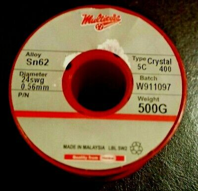 "Electronics Solder wire Multicore Loctite Sn62/Pb36/Ag2 0.56mm 0.022""  0.5kg"