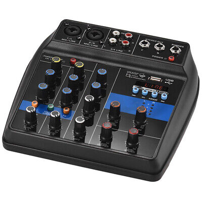 New USB Digital 4 Channels Sound Mixing Console Karaoke Record Audio Mixer Boil