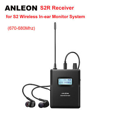 ANLEON S2R Receiver For Stereo Wireless Personal System IEM Stage UHF 670-680Mhz