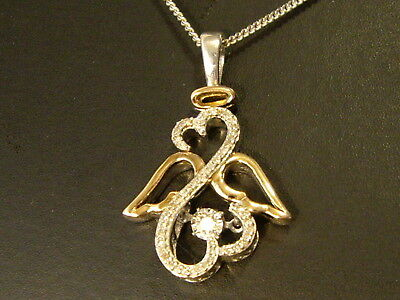 Quality Pendant And Chain Gold, Diamonds, Silver .