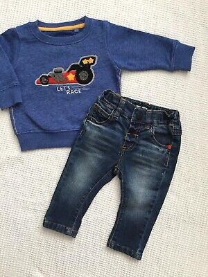 Next Baby Boys 3-6 Months Outfit Jeans, Jumper Combined Postage