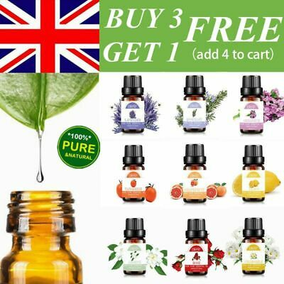 Essential Oils Pure 10ml Aromatherapy Natural Organic Oil Fragrances Therapeutic