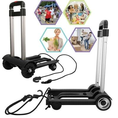 Portable Folding Luggage Cart Hand Truck with Wheels Adjustable Fixing Band