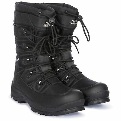 Trespass Mens Waterproof Snow Boots Breathable Lace Up Yetti