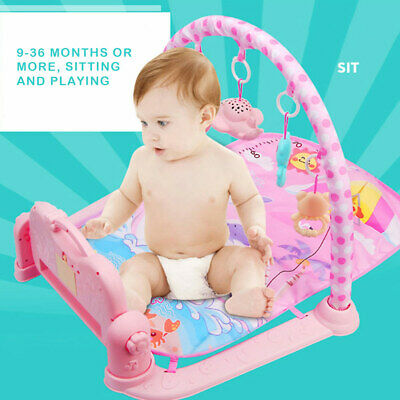 Baby Play Mat Lay and Kids Gym Playmat 3 in 1 Fitness Music Fun Piano Boys Girls