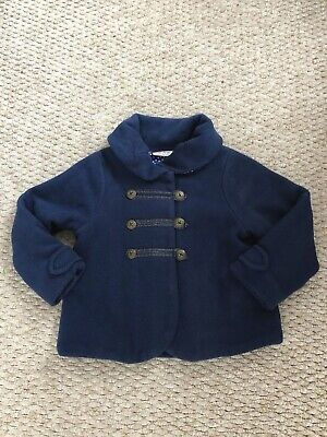 Next Girls Navy Fleece Jacket Age 4-5 Years