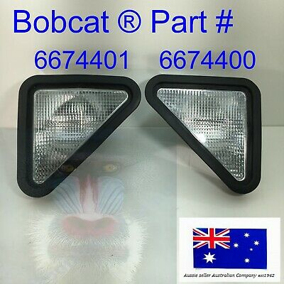 Bobcat Skid Steer Headlight Set  6674400 6674401 Lhs Rhs Pair