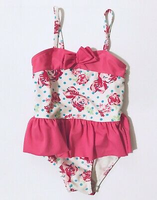 Matalan Baby Girls Pink Swimming Costume 12-18 Months Swimsuit One Piece Floral