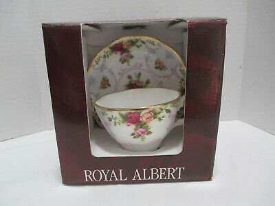 Royal Albert Bone China Rose Cameo Violet Old Country Roses Tea Cup & Saucer
