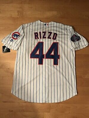 Anthony Rizzo #44 Chicago Cubs World Series Cool Base Men's Jersey Size XL