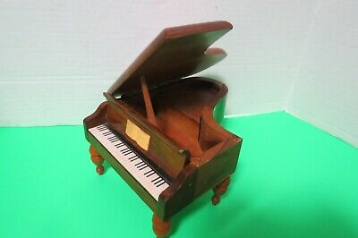 Vintage Reuge Swiss Music Box 36 Note Grand Piano Made In Switzerland Video