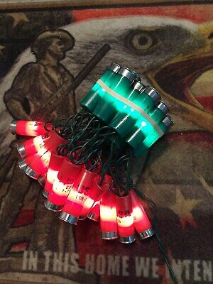 Decorations Shotgun shell lights 35 light string, Christmas tree, holiday wreath