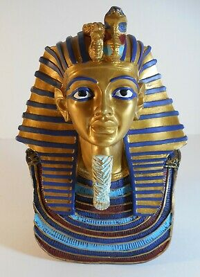 Small Egyptian Pharaoh  King Tut Bust Figure Head
