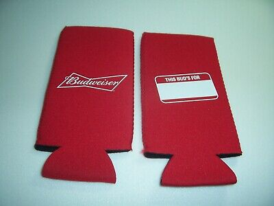 2 New Budweiser Beer Bottle Koozie Fits 16oz This Bud's For