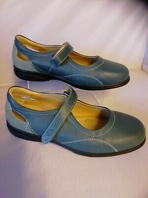 Ladies Cosyfeet shoes size 9 extra Roomy Stone Paradise Teal