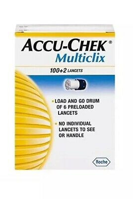 NEW Accu,Chek Multiclix Lancets, 102 Count