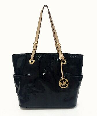 MICHAEL by Michael Kors Jet Set Monogram Patent leather Tote Bag