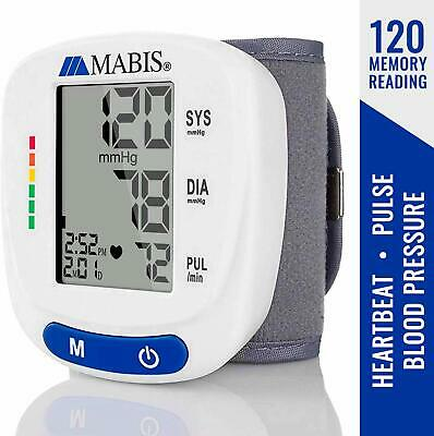 Wrist Blood Pressure Monitor Storing up to 120 Readings with Date and Time