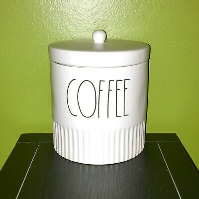 "New RAE DUNN Artisan Collection LL ""COFFEE"" 7"" Canister By Magenta"