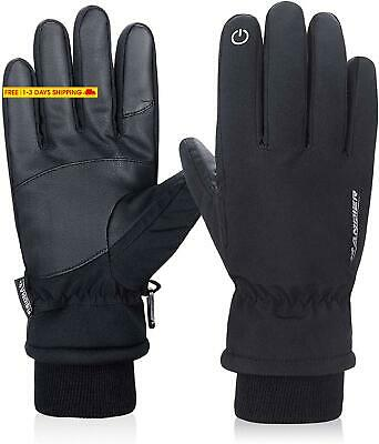 Lanyi Winter Gloves For Men Women 3M Thinsulate Waterproof Touch Screen Windproo