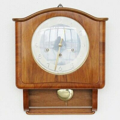 Wall Clock MAUTHE WESTMINSTER Chime EXTREMELY Rare!! Vintage High Gloss, Germany