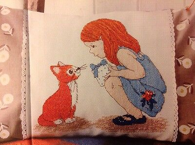 (A) Belle And Boo Girl And Rabbit Hello Friend Cross Stitch Chart