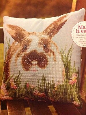 (A) Cute Spring Easter Bunny Rabbit Cross Stitch Chart