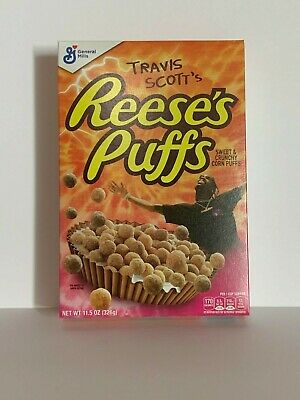 Limited Travis Scott X Reeses Puffs Cereal - Look Mom I Can Fly SOLD OUT RARE