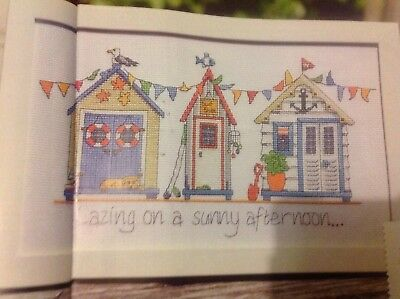 (A) Beach Huts And Bunting Brutish Summer Holiday Cross Stitch Chart