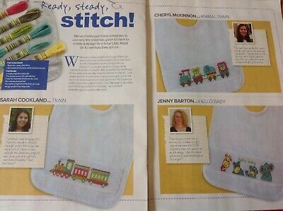 (A) Baby Bibs Cute Animals And Trains Cross Stitch Chart
