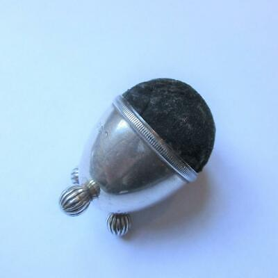 Sterling Silver Pin Cushion Antique Victorian English Chester c1890. F66