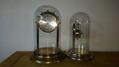 Vintage Large Anniversary Clock with LARGE GLASS DOME
