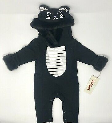 Halloween gray mouse cat bear velour outfit hoodie 1 piece jumpsuit-6-9months-NE