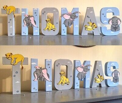 Dumbo Simba Lion king Letters Baby Nursery Wall Art Decor Kids Children's Gift