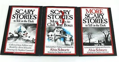 Scary Stories to Tell in The Dark 3 Books Kids Alvin Schwartz Original Artwork