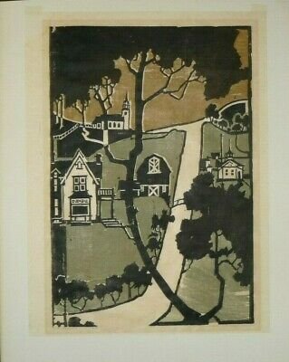 """James T. O'Rourke,Relief Print,""""The Valley"""",#4/200,unframed"""