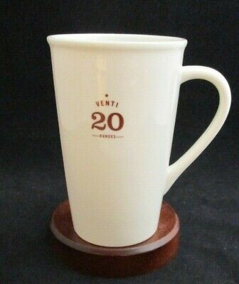 "2010 Starbucks Porcelain Coffee Mug ""Venti"" 20 oz"