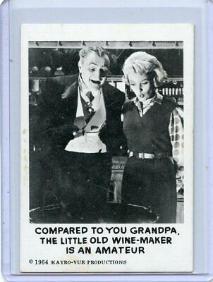 1964 THE MUNSTERS Card #42 Leaf Brands  Kayro-Vue Productions  EX
