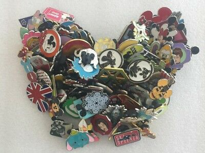 DISNEY PINS LOT of 50  FREE SHIPPING BY US SELLER 100% TRADEABLE- NO DOUBLES-L1