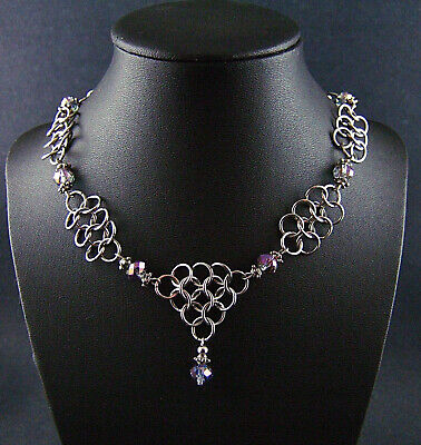 Game of Thrones Iridescent Chainmail Necklace Dark Crystal Steampunk Cosplay WoW