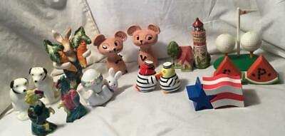 10  S&P Shaker Lot Rabbits Holt Howard F&F Rca Dog Golf Lighthouse Rooster ++