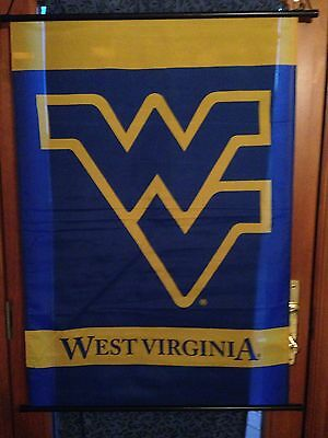 """New West Virginia Mountaineers Home Party Decor Wall Banner 28.5""""x41"""" Wvu"""