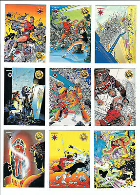 1993 THE VALIANT ERA Trading Cards Complete Set of 120 cards w/foil wrapper nm/m