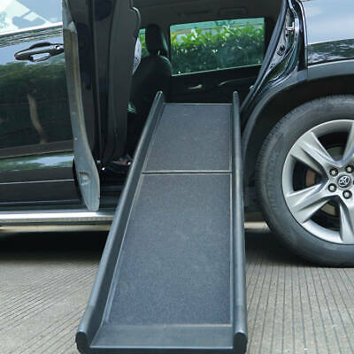 """62"""" Portable Dog Ramp Pet Stairs for Folding Trunk Back Seat Ladder Step Car SUV"""
