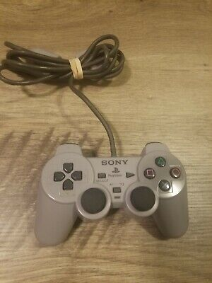 OEM Sony PlayStation 1 PS1Dual Shock Analog Controller Gray authentic  official